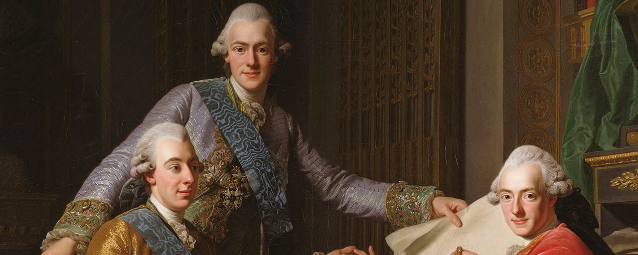 Alexander Roslin, King Gustav III of Sweden and his Brothers_Google_Art_Project