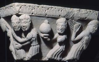 Capitello binato con Storie della vita della Vergine